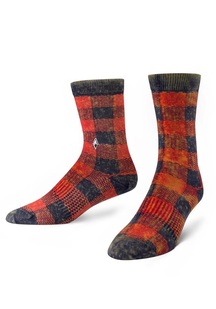 Skarpety męskie w kratę Vago VA Socks