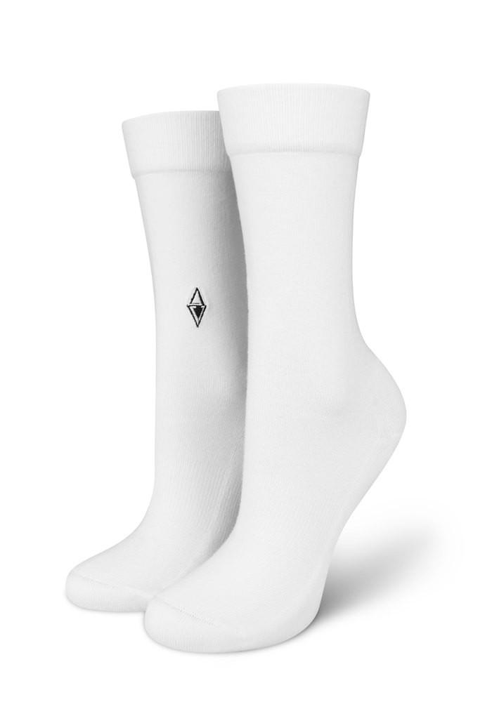 Skarpetki damskie Plain White VA Socks
