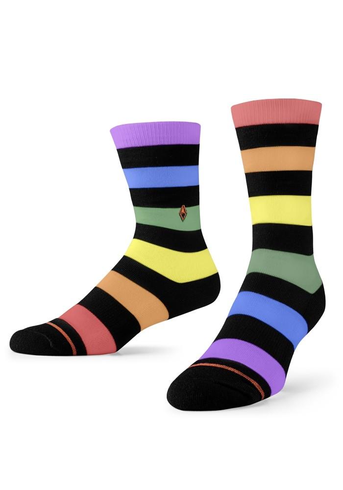 Kolorowe skarpetki męskie w paski Rainbow VA Socks