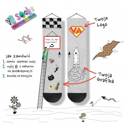 Skarpety z własnym nadrukiem VA Socks